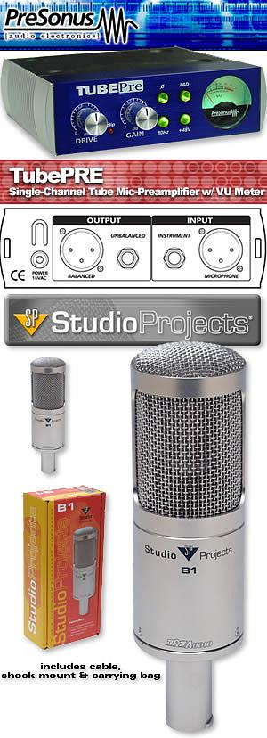 Presonus TubePre & Studio Projects B1 Mic Bundle