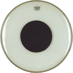Remo Controlled Sound Clear Black Dot - 24 Inch [CS-1324-10]