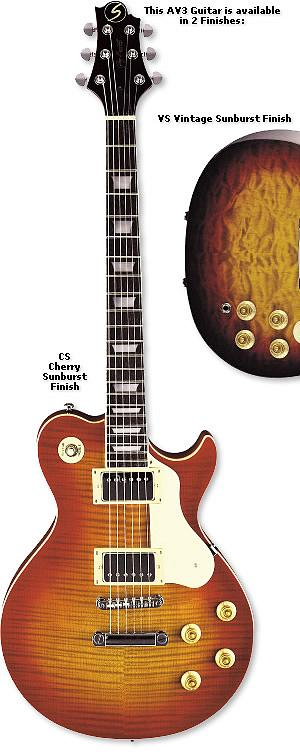 Samick AV 3  Cherry Sunburst Finish