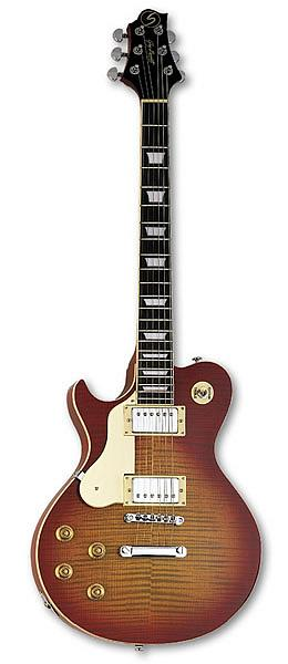 Greg Bennett AV3LH Cherry Sunburst Finish
