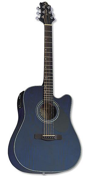 Samick D4CE TBL - Transparent Blue Finish [D4CE TBL]
