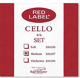 Super Sensitive Red Label 4/4 Cello Medium Strings