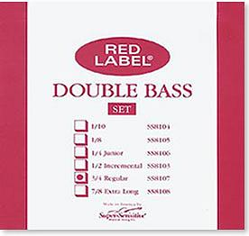 Red Label 3/4 Regular Bass Strings