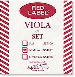 Super Sensitive Red Label 4/4 Medium Viola Strings