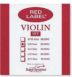 Super Sensitive Red Label 1/8 Violin Strings