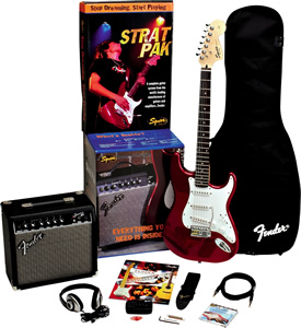 Squier Strat® Pak with Frontman™ 15G Metallic Blue Finish [0330800149]