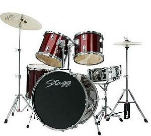 Stagg TIM+22WR Wine Red 5 Piece Drum Set