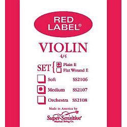 Super Sensitive Red Label Violin 4/4 Medium Strings